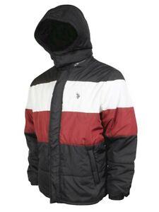 U.S. Polo Association Color Block Bubble Zip Front Hooded ...