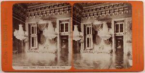 Italia Torino Palais Royal Foto G. Brogi Stereo Vintage Albumina c1880