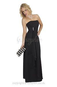 nero Elegante d'onore maniche damigella con abito da Ed9011 lunghe chiffon in lungo qrqABw