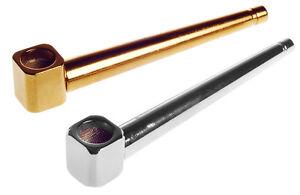 Metal-Small-Pocket-Size-Stylish-Silver-New-Detached-Smoking-Pipe-UK-Free-P-amp-P