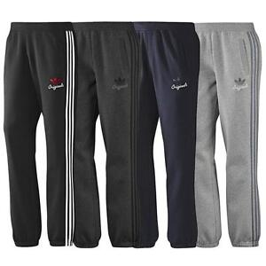 ADIDAS-MENS-SPO-FLEECE-TREFOIL-GYM-TRACKSUIT-PANTS-BOTTOMS-S-XL