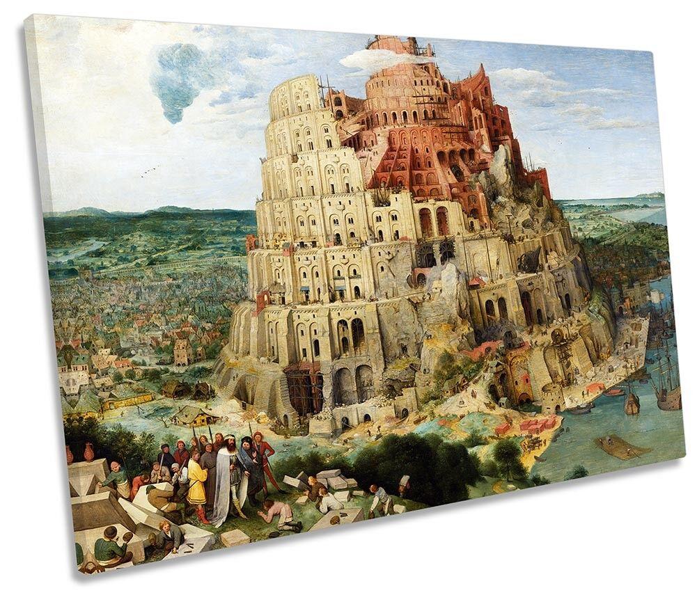 Pieter Bruegel singola TORRE DI BABELE tela singola Bruegel Wall Art Print b82aab