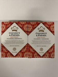 Nubian Heritage Bar Soap Coconut And Papaya Bar Soap 5 OZ. (Pack of 2)