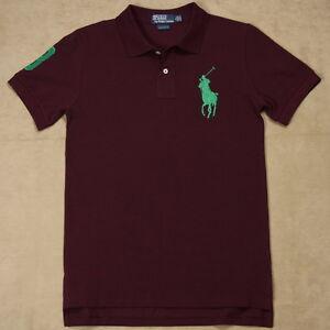 157f9d927 New Ralph Lauren Polo Shirt Custom Fit Green Big Pony Men No 3 ...