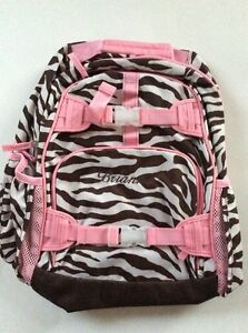 Pottery Barn Kids Brown Pink Zebra Large Mackenzie