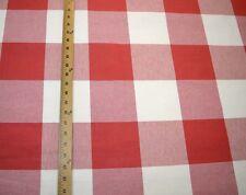 Red & Slightly Off White Buffalo Check Call Me Firecracker Kaufmann Fabric