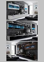 High Gloss Living Room Furniture Set - Black Or White Cabinet Cupboard Tv Shelf
