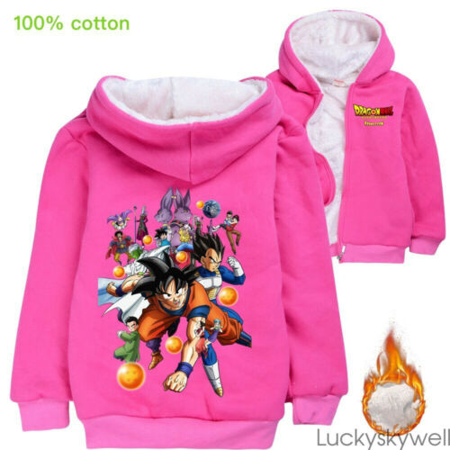Gift Dragon Ball Kid Boys Girls Winter Hoodie Jacket Outerwear Top Clothes 4-14T