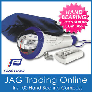 PLASTIMO IRIS 100 BLUE HAND BEARING ORIENTEERING COMPASS- Hiking/Marine/Sailing