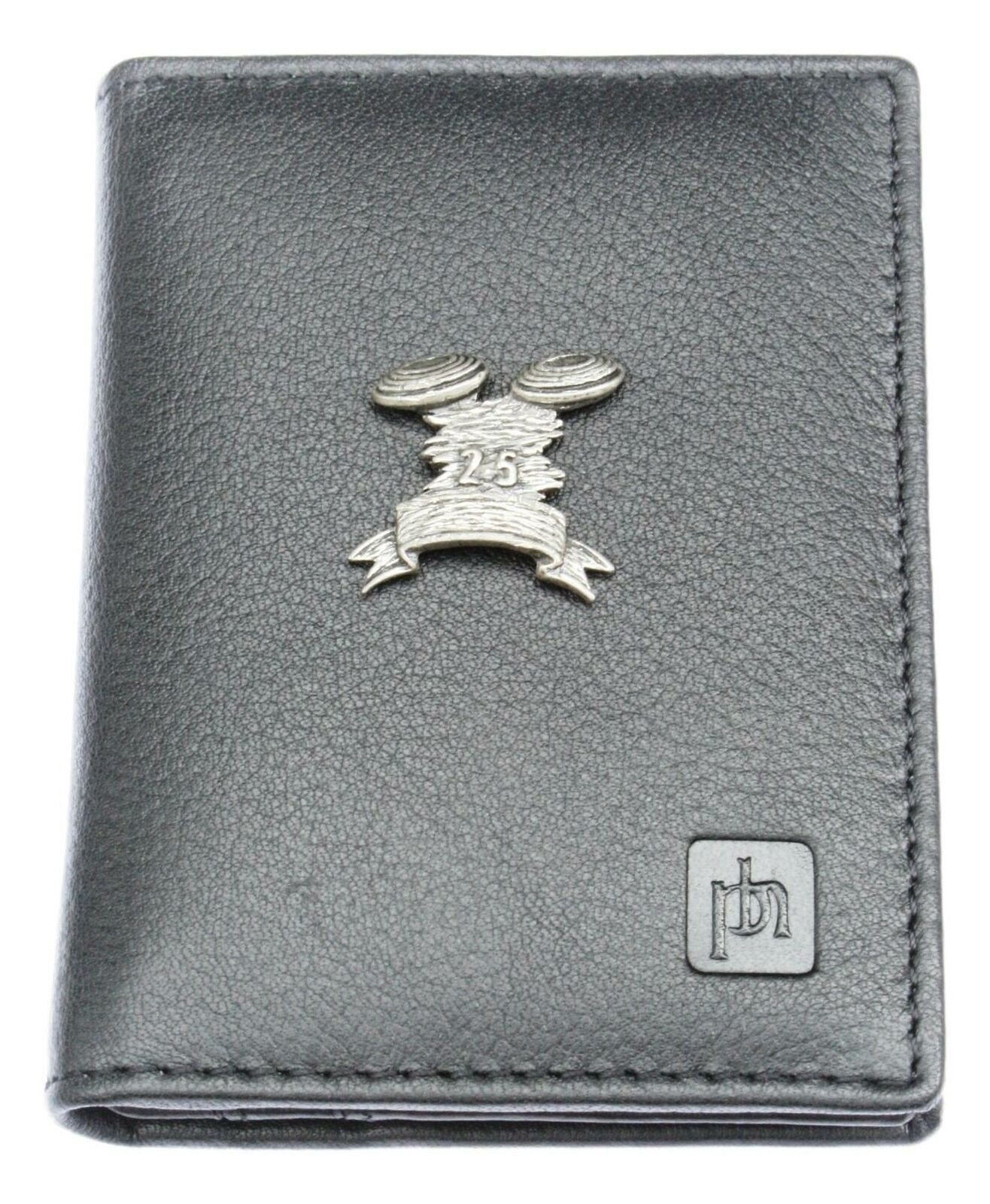 Clays 25 Bifold Card Holder Leather Black Wallet RFID Safe 76
