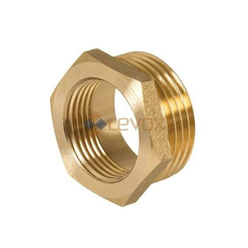 Brass Reducing Hexagon Bush BSP Male to Female Adaptor Connector