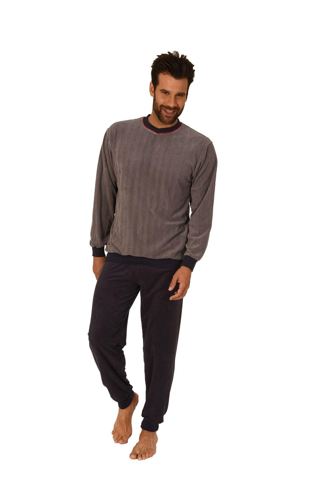 Herren Schlafanzug mit Bündchen Pyjama – auch in Übergrössen 60 62 64 66 68 70