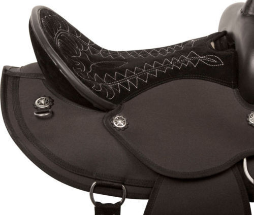 New Synthetic Western Saddles with Stylish Crystal Bling Size available 12 to 18
