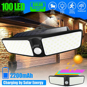 100-LED-Solar-Lamp-Outdoor-Garden-Yard-Waterproof-PIR-Motion-Sensor-Wall-Light
