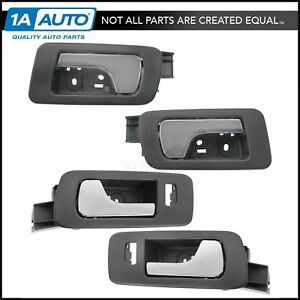 Inside Interior Door Handle Ebony Chrome LH RH Front Rear Set of 4 for Caddy STS