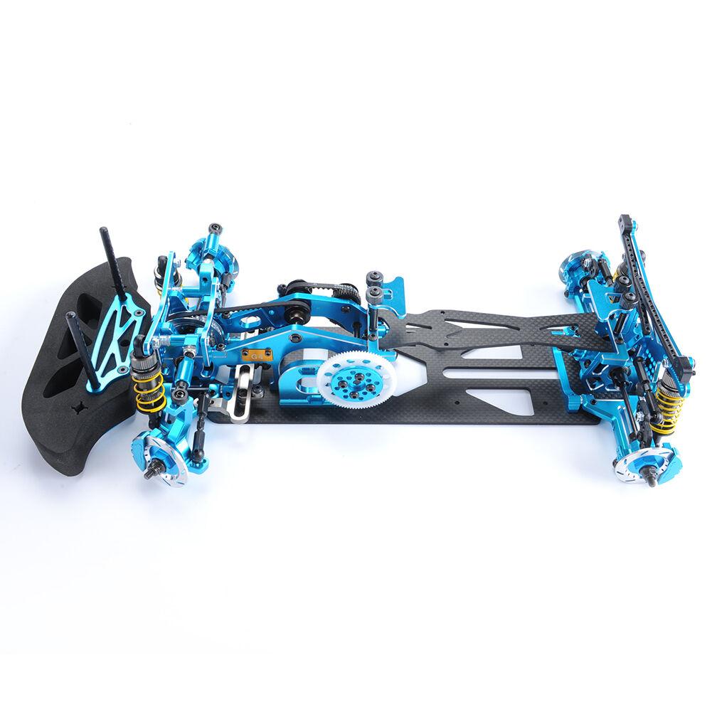 Blau 1  10 - skala aus kohlenstoff g4 rc 1   10 4wd - drift - rennwagen rahmen kit