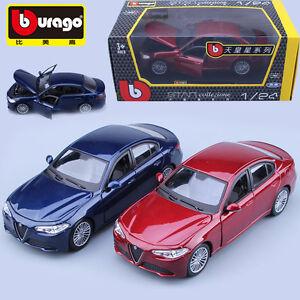 BBurago Alfa Romeo Giulia Diecast Model Car Burago Vehicle - Alfa romeo model