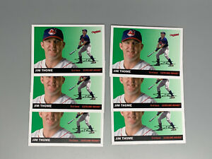 Jim-Thome-2020-Topps-Archives-Baseball-6-Base-Card-Lot-70-Cleveland-Indians