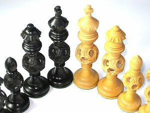 Image Is Loading Large Tournament Chess Coins Hand Carved Beautiful