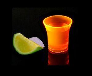 Econ-Neon-Arancione-Polistirolo-Shot-Occhiali-Ce-25ml-Custodia-di-100-Plastica