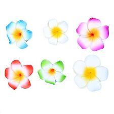 Mix Color Hibiscus Foam Flower Hair Clip - Durable Kids & Adults Hairpin, 6 pcs