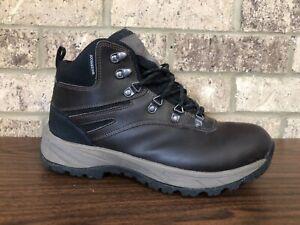 Eddie-Bauer-EVERETT-Dark-Brown-Leather-Waterproof-Outdoor-Hiking-Boots-Men-s-10