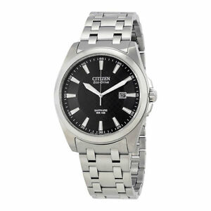 be1cf4a0dbfa0 New Citizen Men s Eco-Drive Black Dial Stainless Steel Watch BM7100 ...