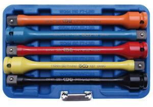 JEU-5-RALLONGES-IMPACT-A-TORSION-EN-COFFRET-POUR-CLE-A-CHOC-de-100-a-150-Nm