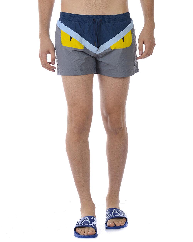 Costume Mare Fendi Beachwear Swimsuit MADE IN ITALY men grey FXB077OTA F1251