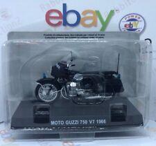 Moto Guzzi 750 V7 Año Fabricación 1966 Azul Oscuro 1:24 Altaya