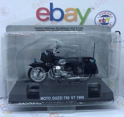 MINIATURA MOTO MOTO GUZZI 750 V7 1966 CARABINIERI 1//24