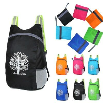 Waterproof Lightweight Folding Bag Travel Backpack Camping Shopping Fold Up