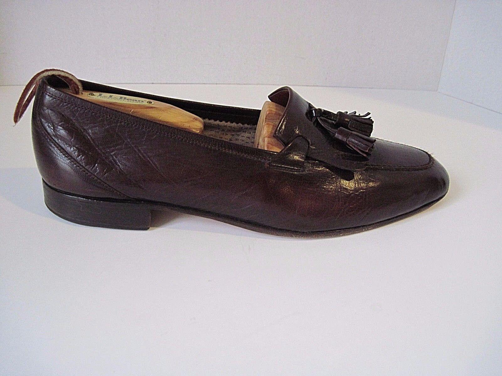 Vintage FRATELLI ROSSETTI ESTATE Bilbao Cordovan Leather Loafers Tassels Size 43