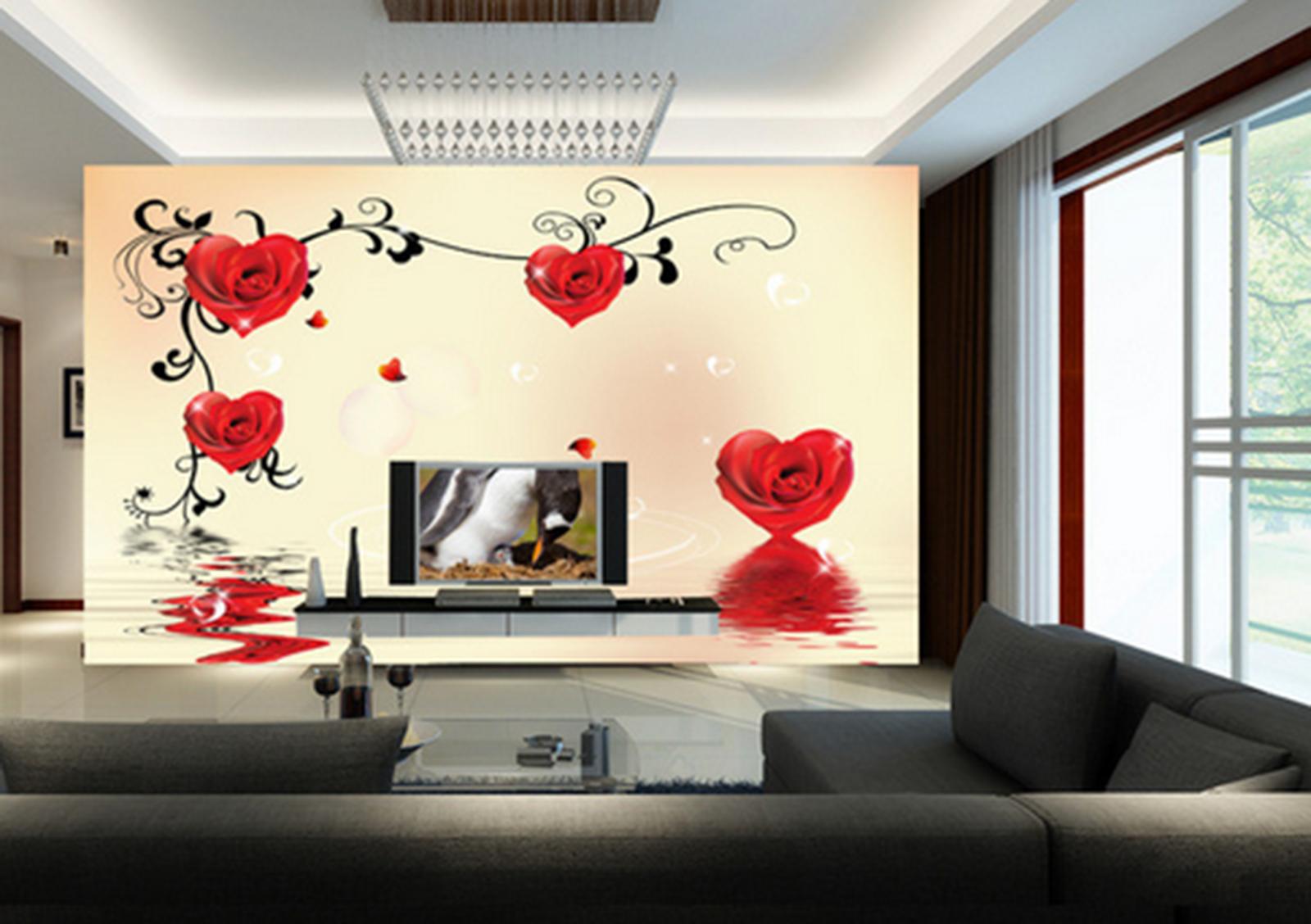 3D Love Petals 441 Wallpaper Murals Wall Print Wallpaper Mural AJ WALL AU Kyra