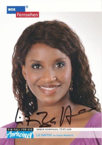 Liz Baffoe   Die Anrheiner  TV  Serien Autogrammkarte signiert 343337