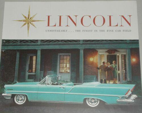 1957 LINCOLN PREMIER advertisement, Lincoln Premiere Convertible