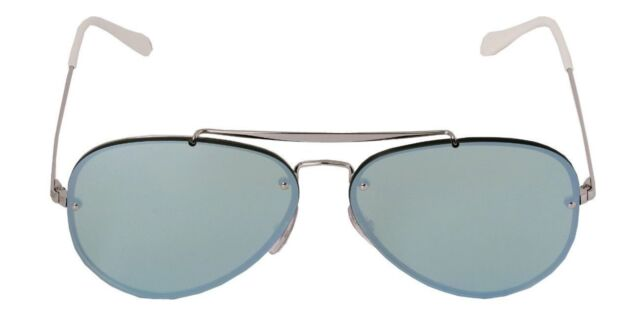 1562da06f6 ... inexpensive ray ban blaze aviator rb 3584n 905130 silver metal sunglasses  green mirror lens a078b 1ec63