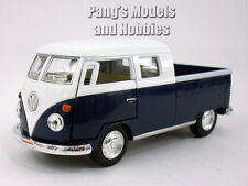 VW T1 Type 2 Pickup Bus 1/34 Scale Diecast & Plastic Model by Kinsmart - Blue