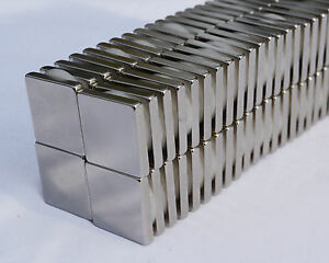 "25 SQUARE MAGNETS 3/4"" x 3/4 x 1/8 STRONGEST N52 Neodymium - US SELLER"