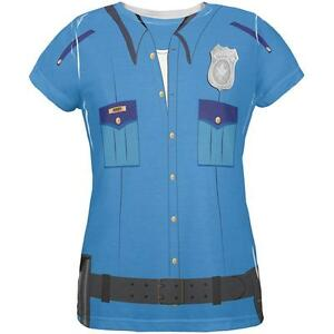 Over Blue All Officer Patrol Police Shirt Costume Womens T Halloween 5SqwYZXnw