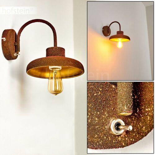 Vintage Wand Lampe mit Schalter rostfarbe Wohn Schlaf Zimmer Beleuchtung Leuchte