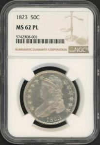 1823 Capped Bust Silver Half-Dollar (NGC MS 62 PL)