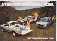 1985 HOLDEN KB RODEO UTE Australian Brochure Like ISUZU FASTER