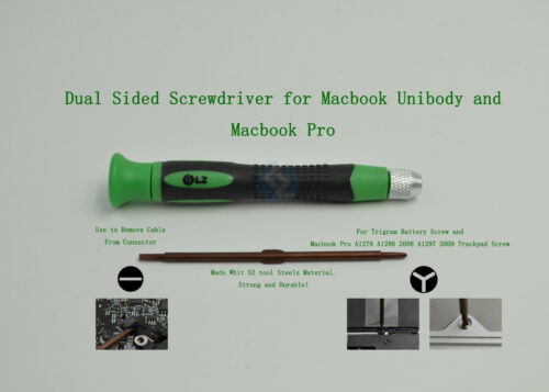 "Dual Sided Y-Sharped 3 Point and Flathead Screwdriver for Macbook Pro 15/"" a1286"