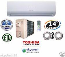 18000 BTU 1.5TON  Ductless Mini Split Air Conditioner  17 '' Full  Set