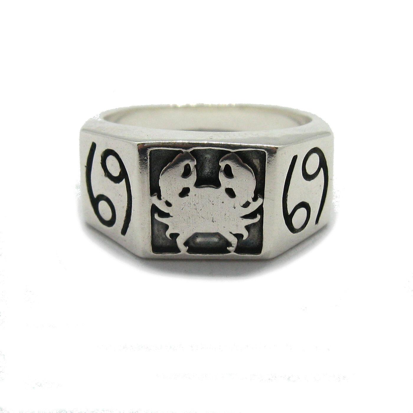 925 Sterling silver herren ring Sternzeichen Krebs R001811 EMPRESS