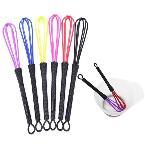 Mini Salon Hairdressing Tool Tint Color Dye Whisk Balloon Whip Mixer Random TO