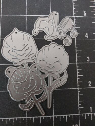 Universal Thin metal die cut tool emboss Alice Wonderland Pansy Butterfly face