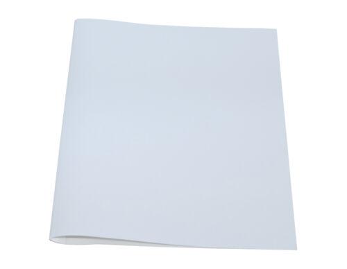 Bindemappen Thermobindemappen Leder weiß 6,0 mm
