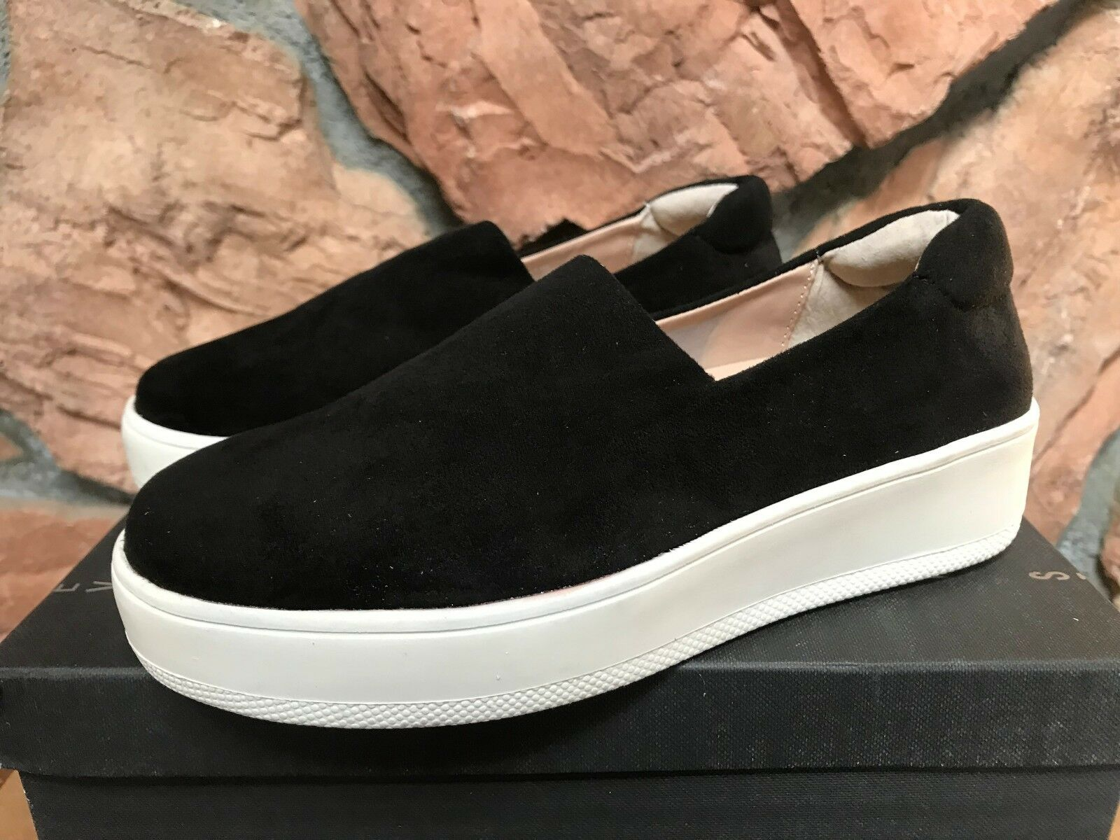 STEVEN by Steve Madden Women's Hilda Fashion Fashion Fashion Sneaker Black 7.5 Runs Small a79491